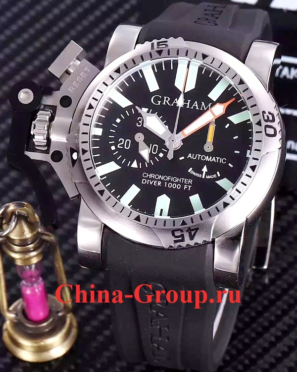 Часы Graham Chronofighter Oversize Diver Tech Sea оригинал 2OVDIVAS B03A K10B на каучуковом photo