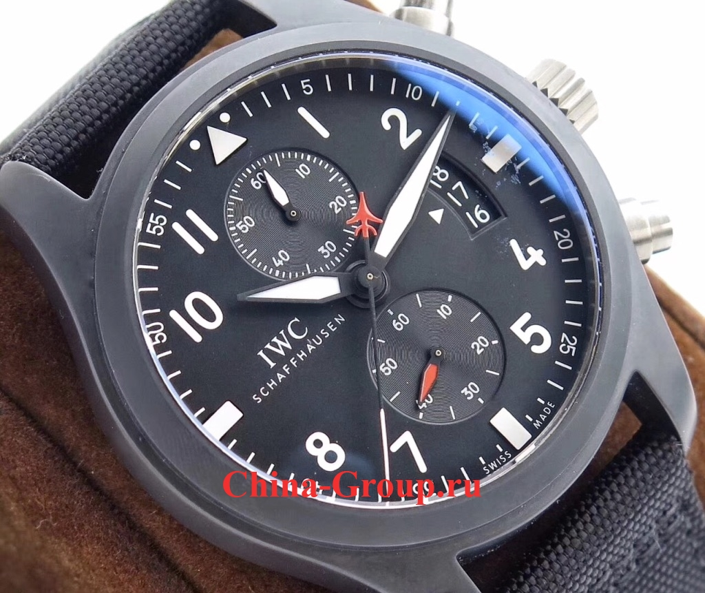 Часы IWC Pilot Chronograph Top Gun 46mm Ceramic IW388007 photo