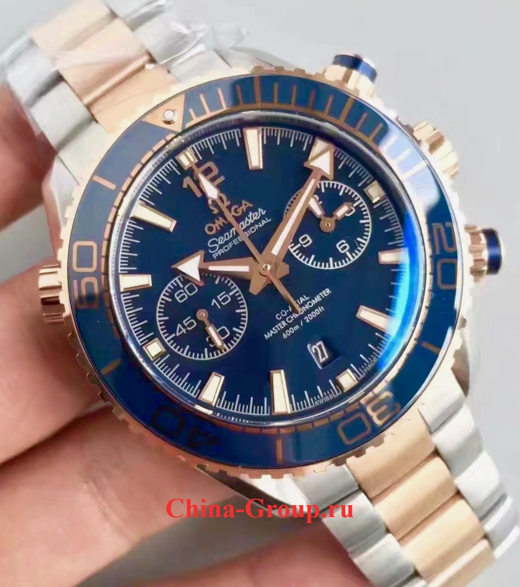фото Копия Planet Ocean 600M Omega Co-Axial Master Chronometer Chronograph 45,5
