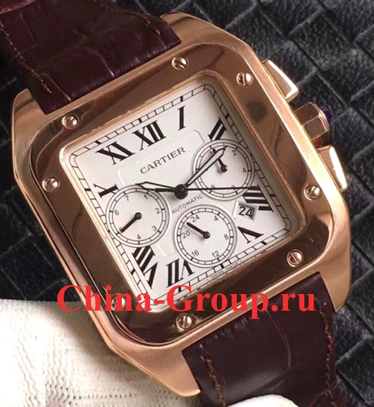Cartier Santos 100 XL Gold Chronograph 20096