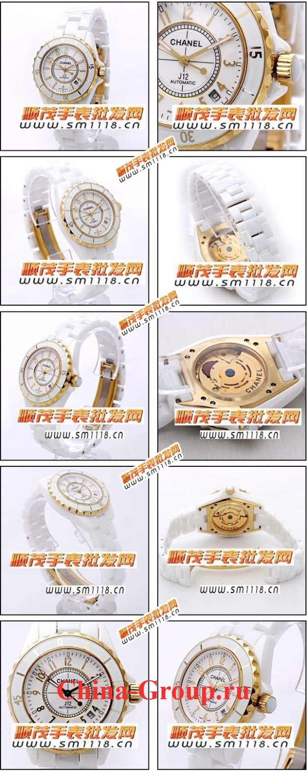 Часы Chanel J12 White Ceramic Gold 01220