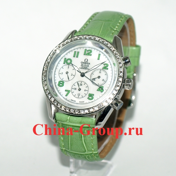 Часы Omega De Ville Ladies Biamond Bezel Green 00114